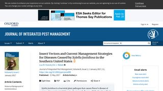 Insect Vectors and Current Management Strategies for Diseases ...