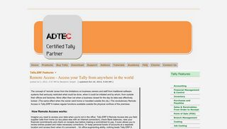 Remote Access - Access your Tally from anywhere in the world - tally ...
