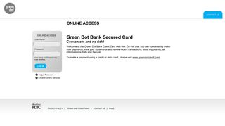 Secured Credit Card Offered By Green Dot Bank