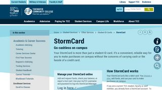 StormCard | Tidewater Community College - TCC