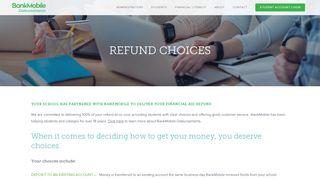 Refund Choices - BankMobile Disbursements