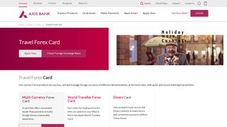 Travel Forex Card - Axis Bank