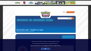 [General] Login - Unable to Login - Technical Support - Pokémon ...