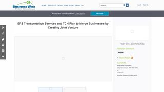 EFS Transportation Services and TCH Plan to Merge Businesses by ...