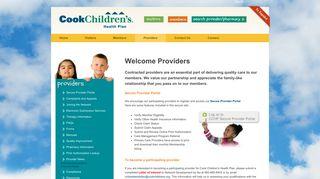 Cook Children's Health Plan - Providers - Providers
