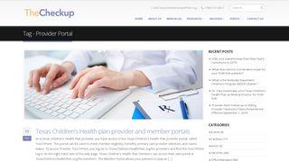 Provider Portal – The Checkup