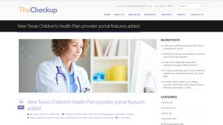 New Texas Children's Health Plan provider portal features added ...