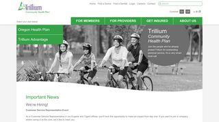 Oregon Medicaid, Medicare & Health Insurance   Trillium
