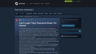 Can't Login Tdu2 Password Email. Fix. Solved. :: Test Drive Unlimited ...