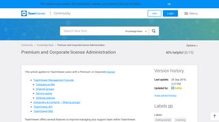 Premium and Corporate license Administration - TeamViewer ...