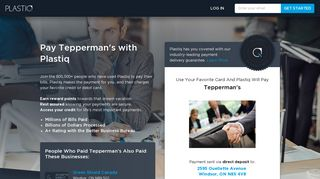 Pay Tepperman's with Plastiq