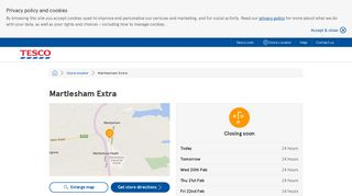 Martlesham Extra - Tesco store locator