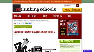 An Open Letter to New Teach For America Recruits by Katie Osgood