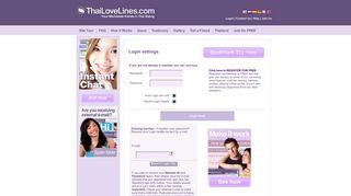 ThaiLoveLines - Login to Thailand's No. 1 Dating site