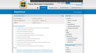 Accounts Department - Thane Municipal Corporation