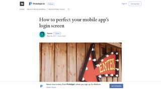 How to perfect your mobile app's login screen – Prototypr