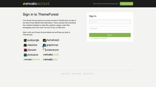 Sign in to ThemeForest - Envato Account