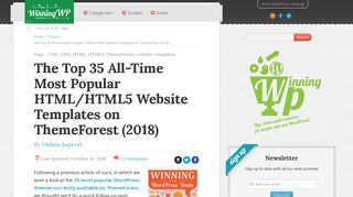 Top 35 All-Time Most Popular HTML/5 Website Templates on ...