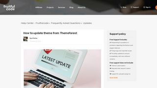 How to update theme from Themeforest – Help Center - Fruitfulcode