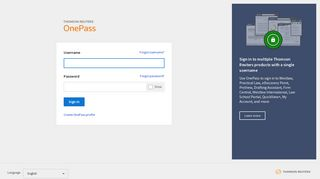OnePass | Thomson Reuters