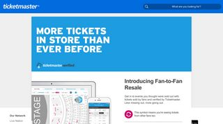 Verified Tickets by Ticketmaster | Official Fan Ticket Marketplace