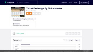 Ticket Exchange By Ticketmaster Reviews | Read Customer Service ...