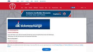 TicketExchange by TicketMaster | Washington Wizards - NBA.com