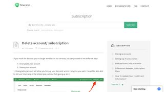 Delete account/ subscription - TimeCamp Knowledge Base