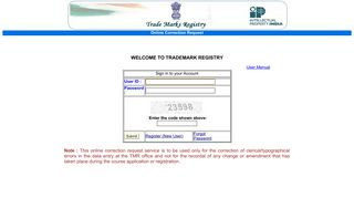 Trade Marks Registry Online Correction Request WELCOME TO ...