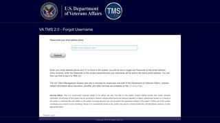 VA TMS 2.0 - Forgot Username