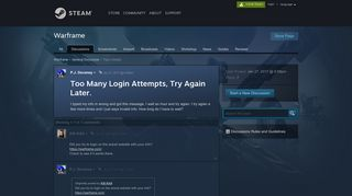 Too Many Login Attempts, Try Again Later. :: Warframe General ...