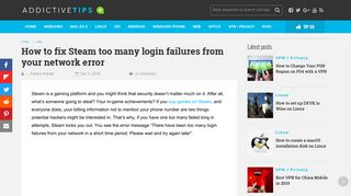 How to fix Steam too many login failures from your network error