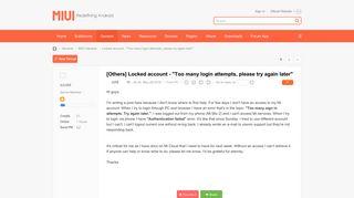 Locked account -