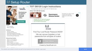 How to Login to the TOT DB120 - SetupRouter