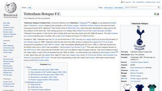Tottenham Hotspur F.C. - Wikipedia