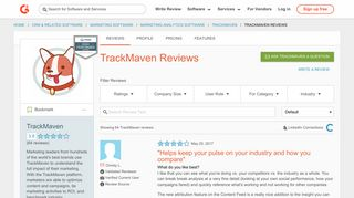 TrackMaven Reviews 2018 | G2 Crowd