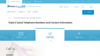 Triple-S Salud Telephone Numbers and Contact Information. Call us!