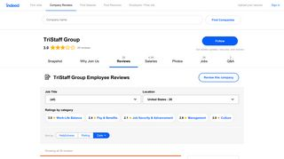 Working at TriStaff Group: Employee Reviews   Indeed.com