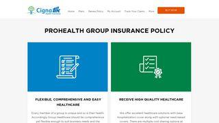 Group Health Insurance Tailored To Meet Needs of ... - Cigna TTK