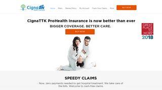 Cigna TTK: Buy Best Health Plan From Leading Health Insurance ...