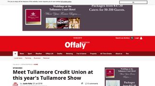 Meet Tullamore Credit Union at this year's Tullamore Show - Offaly ...