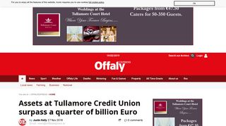 Assets at Tullamore Credit Union surpass a quarter of billion Euro ...