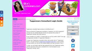 Tupperware Consultant Login Guide