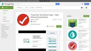 TurboTax Tax Return App – Max Refund Guaranteed - Apps on ...