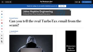 Can you tell the real TurboTax email from the scam? - Washington Post