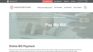 Pay My Bill Online   Vancouver Clinic
