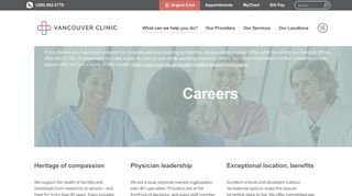 Careers   Vancouver Clinic