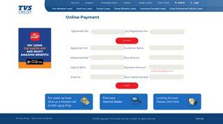 Customer Login at TVS Credit Services