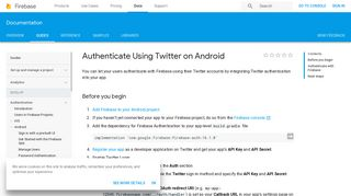 Authenticate Using Twitter on Android   Firebase