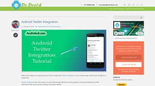 Android Twitter Integration - AndrohubAndrohub